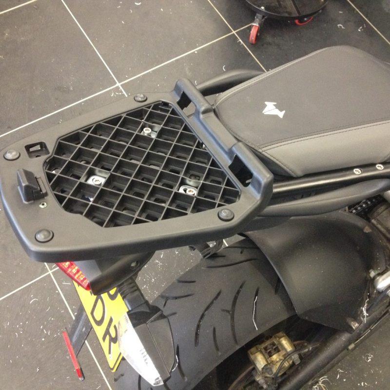 brammo victory custom rack luggage frame